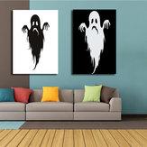 Combinaison de peintures peintes à la main de Miico, peintures de fantômes d'Halloween, peintures murales pour la décoration de la maison