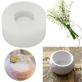Moule de pot de fleur de savon de bougie de silicone fait main 3D moulant le moule de tasse de béton