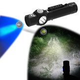 WainLight BD12 UV365nm 5W LED+UV Flashlight 3 Modes USB Rechargeable Waterproof Magnetic Torch Light Hunting Fishing Work Lamp