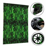 Green Fire Hydrographic Water Transfer Film Hydro Dipping DIP Print Car Film 150CM