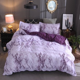260*230cm 3Pcs Bedclothes Polyester Marble Bedding Set Quilt Duvet Cover Pillow case Decor