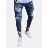 Stylish Hip Hop Ripped Skinny Jeans