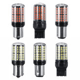 2PCS 1156 1157 7440 SMD LED Turn Signal Lights Brake Reverse Lamp Replacement Bulb White/Red for Car Trailer