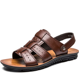 Men's Casual Summer Beach Leather Shoes Sandals