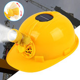 Construction Hard Hat Safety Protect Work Helmet with Solar Powered Cooling Fan