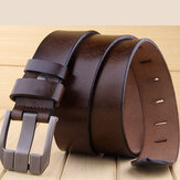 KCASA Genuine Leather Men's Belt Casual Waistband Waist Strap Smooth Pin
