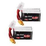 2Pcs URUAV 14.8V 850mAh 70C 4S Lipo Battery XT60 Plug for RC Drone FPV Racing
