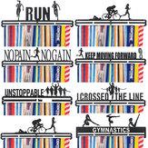 Dayanıklı Metal Çelik Madalya Tutucu Askı Ekran Raf Spor Süslemeleri Koşu İçin İdeal