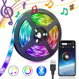 5V USB Power Música Bluetooth remoto APP LED Strip Light 5050 RGB TV Backlight Decoração