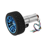 Machifit 25GA370 تيار منتظم 12V Micro Gear Reduction التشفير Motor with Mounting Bracket and Wheel