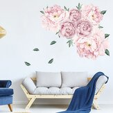 Self Adhesive Watercolor Peony Wall Decal Floral Wall Paper Wall Decration
