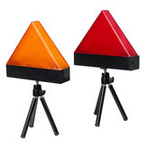 Universal Rechargeable LED Car Triangle Warning Strobe Lights Red/Yellow with Tripod Emergency Security Flash
