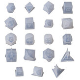 7 / 19Pcs / Set Dice Fillet Square Triangle Dice Mold Dice Juego digital Silicona Molde