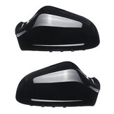 Left/Right Car Rearview Wing Mirror Cover Cap Black For Opel Vauxhall Astra MK5 2010-2013