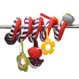 Infant Bed Hanging Baby Stroller Rattle Crib Plush Spiral Roll Toy Decorations
