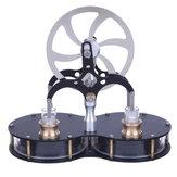 Stirling doble cilindro en forma de maní Diferencia de baja temperatura Motor Juguete educativo modelo