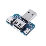 3pcs USB Adapter Board Macho para Fêmea Micro Type-C 4P 2.54mm USB4 Module Converter