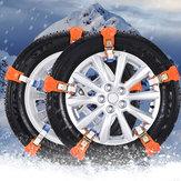 2pcs Universal Car Snow Chain Vehicle Anti Skid Tire Emergency Sand Ground Strap
