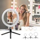 Portable Ring Light LED Makeup Ring Lamp USB Selfie Ring Lamp Phone Holder Tripod Stand Photography Lighting