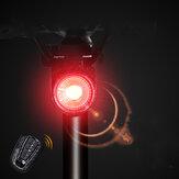 ANTUSI A8 108dB Alarma antirrobo Luz trasera 40LM Smart Light Sensor Freno Sensor Anti-ladrón Bicicleta Luz trasera IP65 Impermeable USB Recargable MTB Bicicleta de carretera Scooter eléctrico E-bike Luz trasera