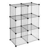6-Cube draad planken opbergnet kast DIY metalen stapelbare plank boek kleding speelgoed