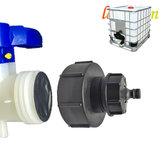 S100X8 Adaptateur de réservoir d'eau IBC Tuyau Barb Filetage grossier Connexion rapide au remplacement du robinet de tuyau de 1/2