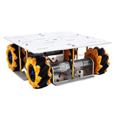 D-30 DIY ذكي 4WD RC روبوت هيكل السيارة قاعدة مع اومني عجلات تيار منتظم 12 فولت 1:46 المحرك