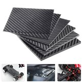 100x100x(0.5-5)mm Black Carbon Fiber Plate Panel Sheet Board Matte Twill Weave