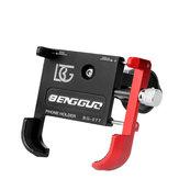 BIKIGHT Soporte para teléfono de bicicleta Aleación de aluminio 55-100mm Bicicleta Moto Soporte de soporte para montaje en teléfono