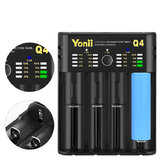 Yonii Q4 Four Slot USB Rechargeable Lithium Battery Charger Multi-functional Intelligent Charger for 18650/26650/21700/AAA Battery
