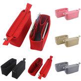 2pcs feutre insérer organisateur sac porte-sac multi poche bourse cosmétique fermeture éclair