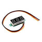 3 adet 0.28 İnç Üç telli 0-100 V Dijital Kırmızı Ekran DC Voltmetre Ayarlanabilir Gerilim Metre