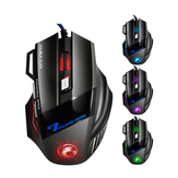 IMICE X7 USB-Kabel 7 Tasten 2400DPI Optical Gaming Mouse 7 LED Atemlicht für PC