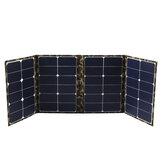 80W 18V Chargeur de panneau solaire pliable Sunpower Banque d'énergie solaire Sac à dos de camouflage USB pour camping Randonnée