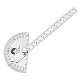 140mm 180 Degree Adjustable Protractor Multifunction Stainless Steel Roundhead Angle Ruler Mathematics Measuring Gauge Tool