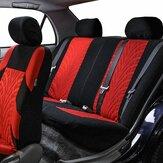 Capa de assento de carro premium de malha de malha composto 9 peças conjunto