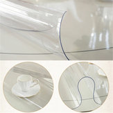 1.5mm 90/1100/110/120cm Dia. Transparent Tablecloth Waterproof Soft Glass Mat PVC Clear Table Protector