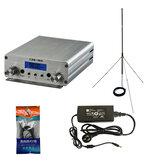 CZH-15A CZE-15A FU-15A 15 Вт FM-стереофонический радиовещательный передатчик PLL FM-возбудитель 88 МГц - 108 МГц + GP 1/4 Wave Антенна + PowerSource
