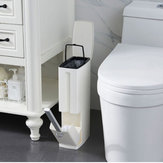 Plastic Trash Can Toilet Cleaning Brushes Thin Waste Bin Dustbin Garbage for Bathroom