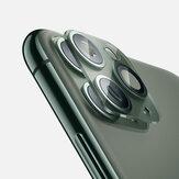Szkło hartowane Bakeey 2 w 1 10D + metalowy pierścień z kółkiem Anti-scratch Phone Lens Protector dla iPhone 11 Pro Max 6,5 cala