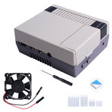 Nes4Pi ABS Case for Raspberry Pi 4B with 3510 Cooling Fan