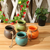 4 Pcs Set Pots Suspendus Cotta Pot De Fleur Terra Colorful Herb Planter Wall Home Garden Decor