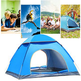 3-4Person Outdoor Dome Camping Tent Double Door Waterproof Polyester Beach Hiking Traveling Tent