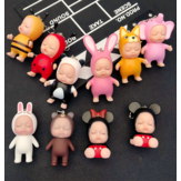 Cartoon Sleeping Cute Doll Keychain Kids Toys