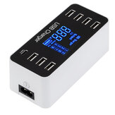 5V 8A 40W LCD Digital Display 8 Port USB Charger Recharging Hub Charging Station
