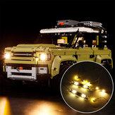 Kit de iluminación con luz LED SOLO para LEGO 42110 Technic Land Rover Defender Coche Juguetes