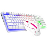 AOC KM100 Wired Mechanical Keyboard & Mouse Set 104 Keys USB Gaming Keyboard 800DPI 6 Buttons Mouse Home Office Ergonomic Mice Kit for Laptop Computer PC