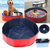 Dog Foldable Swimming Pool Bath Tub Portable Outdoor Home Cat Puppy Pet Washer