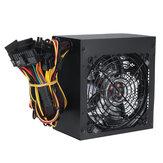 Zasilacz komputerowy 600W Zasilacz 120 cm Wentylator LED 24-pinowy zasilacz PCI SATA 12V Komputer