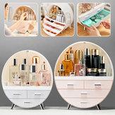 Joyería para mujer Caja Organizador Titular Cosmético Caso Maquillaje Cepillo Cajón de almacenamiento
